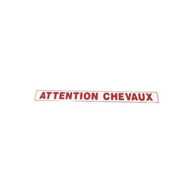 "Autocollant ""ATTENTION CHEVAUX"""
