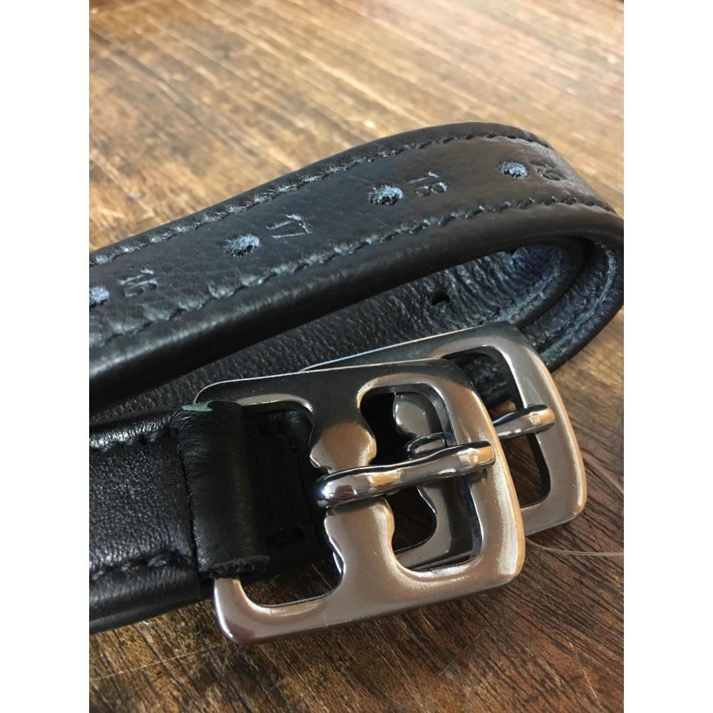 Etrivières nylon doublée cuir SB