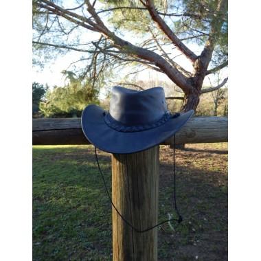 Chapeau en cuir tresse sur le coté - SB
